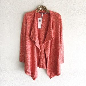 Kenzie Waterfall Drape Cardigan in Pumpkin Spice